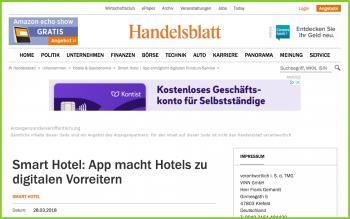 Smart Hotel VINN Handelsblatt online